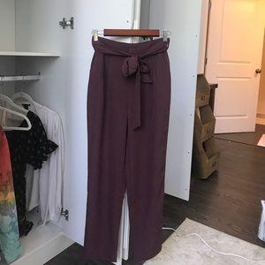 High Waisted Crepe Pants